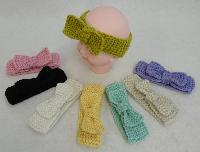 Baby Hand Knitted Ear Band [Bow Loop]
